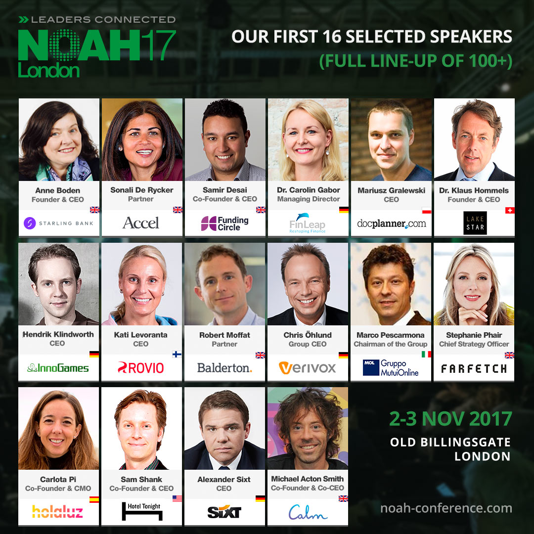 NOAH London Conference 2017 - Selected Speakers vol.1