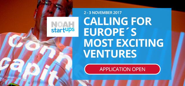 NOAH Startups – Startup Stage Application Open