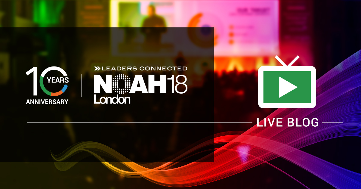 NOAH18 London Live Stream and Blog
