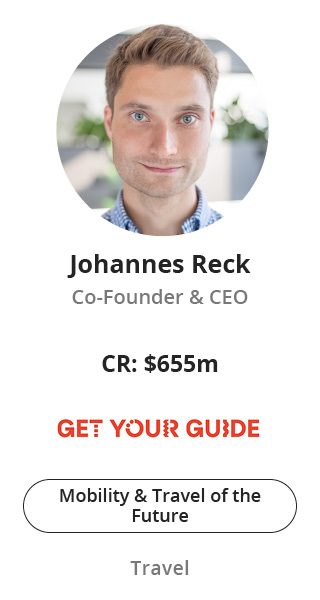 Johannes Reck, Co-Founder & CEO of GetYourGuide speaking at NOAH Conference Zurich 2020