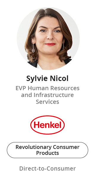 Sylvie Nicol, EVP Human Resources and Infrastructure Services of Henkel speaking at NOAH Conference Berlin 2020
