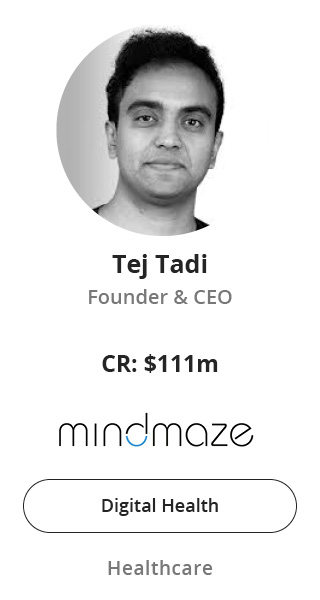 Tej Tadi, Founder & CEO of MindMaze speaking at NOAH Conference Zurich 2020