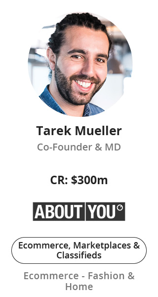 Tarek Mueller, Co-Founder & MD of ABOUT YOU speaking at NOAH Conference Zurich 2020