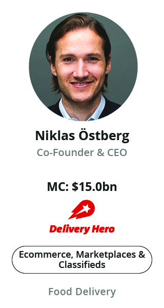 Niklas Östberg, Co-Founder & CEO of Delivery Hero speaking at NOAH Conference Zurich 2020