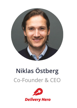 Niklas Östberg, CEO of Delivery Hero speaking at the NOAH Conference Zurich 2020