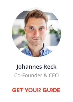 Johannes Reck, Co-Founder and CEO of Get Your Guide speaking at the NOAH Conference Berlin 2020