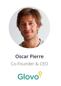 Oscar Pierre, Co-Founder & CEO of Glovo speaking at the NOAH Conference Berlin 2020