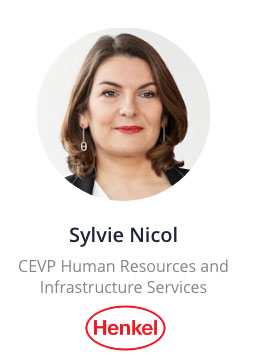Sylvie Nicol, CEVP Human Resources and Infrastructure Services of Henkel speaking at the NOAH Conference Berlin 2020