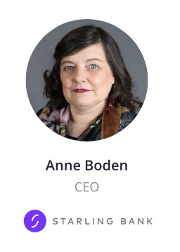Anne Boden, CEO of Starling Bank speaking at the NOAH Conference Berlin 2020