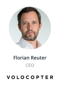 Florian Reuter, CEO of Volocopter speaking at the NOAH Conference Berlin 2020