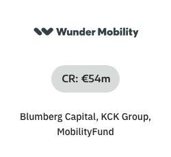 NOAH Startups - Wunder Mobility